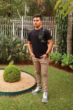 Calça Black Jeans Sarja Skinny Masculino
