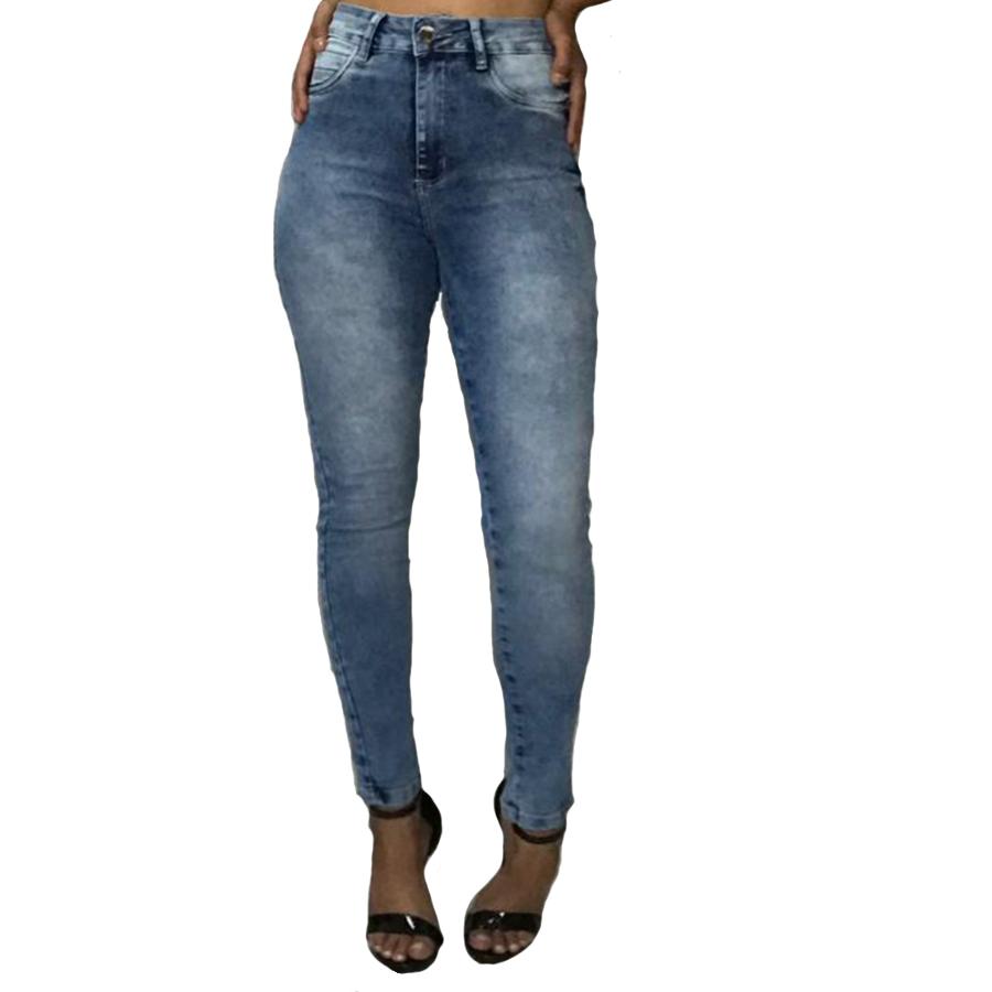 Calça Jeans Feminina Sawary Cigarrete c/ Lycra