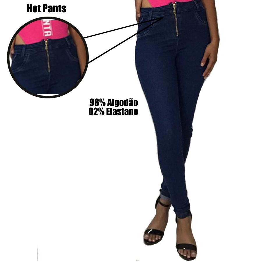 Calça Jeans Feminina Skinny c/ Lycra Sal e Pimenta