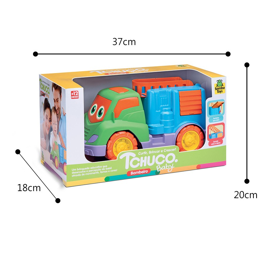 Caminão de Bombeiro Tchuco Baby Samba Toys