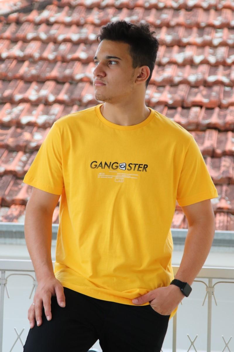 Camiseta Gangster Meia Manga Masculina