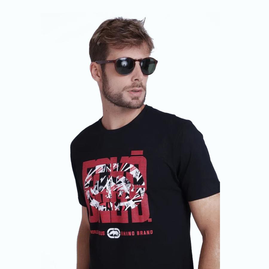 Camiseta Masculina Preta Estampada Ecko Unltd