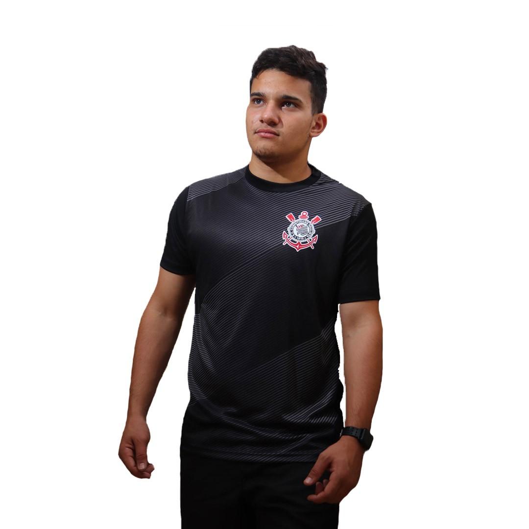 Camiseta SPR Corinthians Thunder Preta