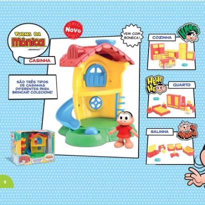 Casinha de Brinquedo Turma da Monica Infantil Samba Toys