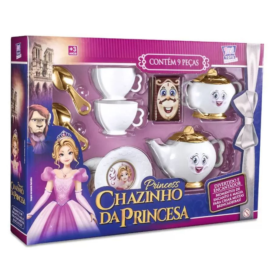 Chazinho da Princesa kit c/ 9 peças Brinquedo Infantil Zuca Toys