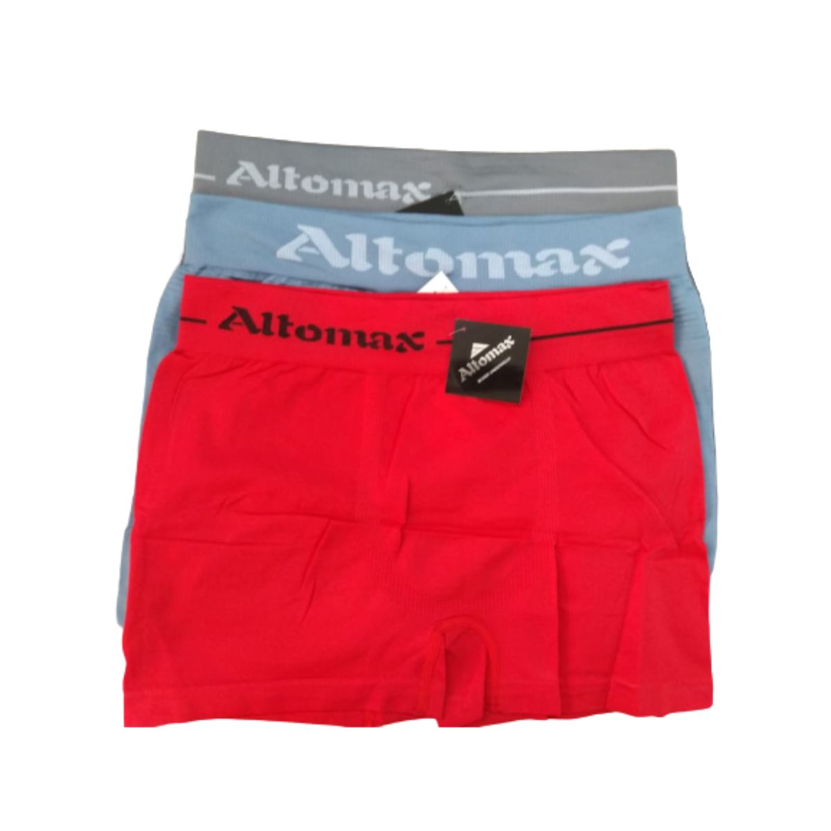 Cueca Boxer Lisa Altomax  Adulto - Kit Com 3 Unidades Sortidas