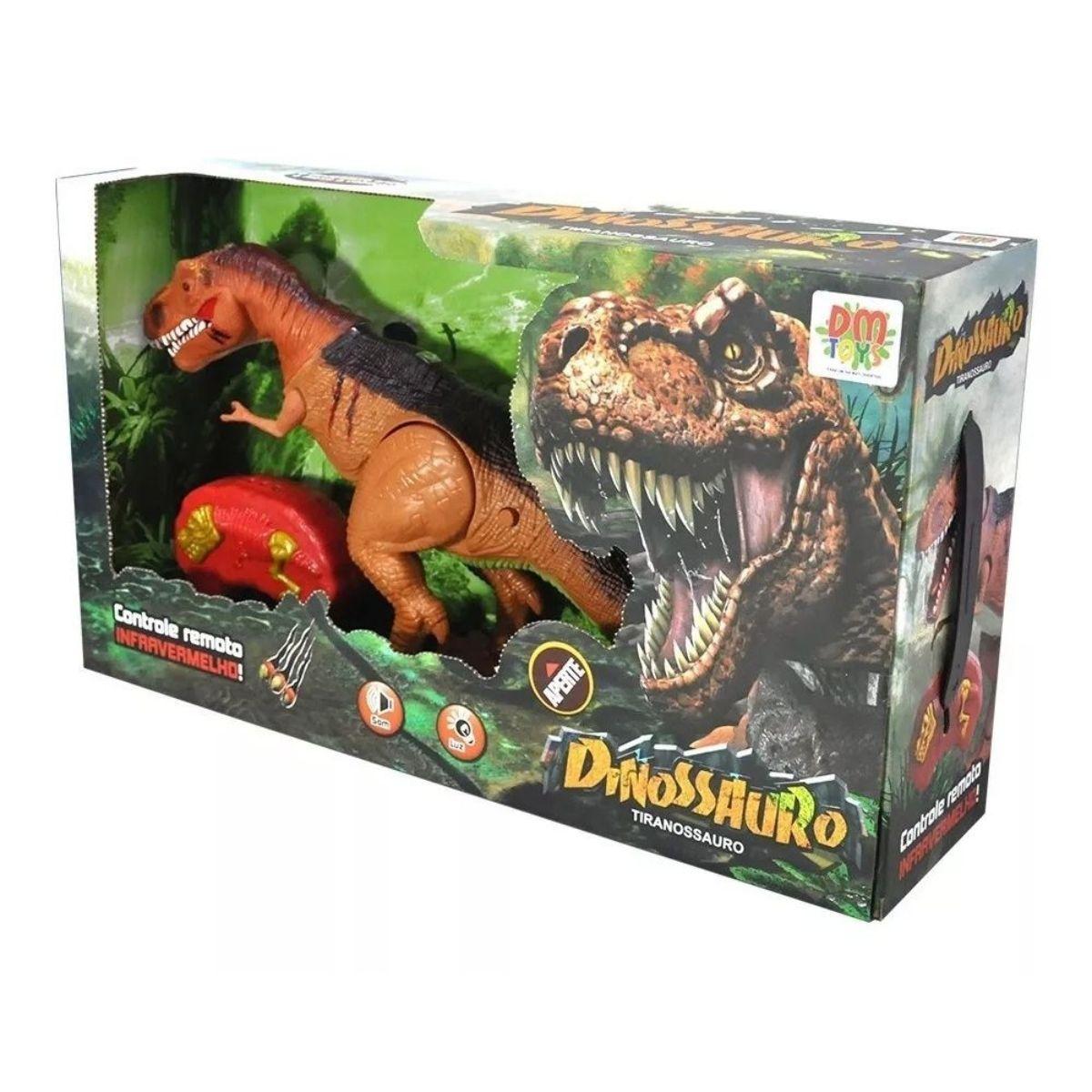 Dinossauro Tiranossauro de Controle Remoto DM Toys