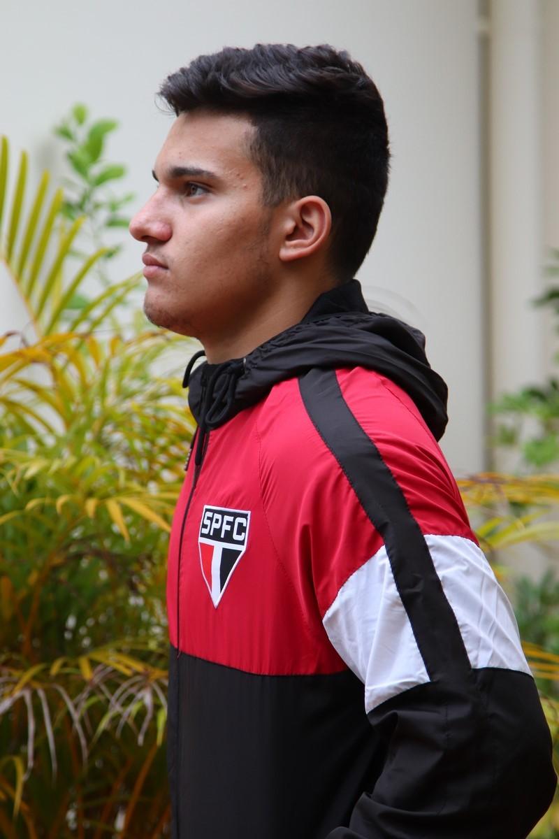 Jaqueta São Paulo SPR Quebra Vento C/ Capuz Tricolor Licenciada