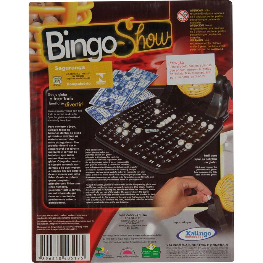 Jogo de Bingo Bingo Show Xalingo Brinquedos