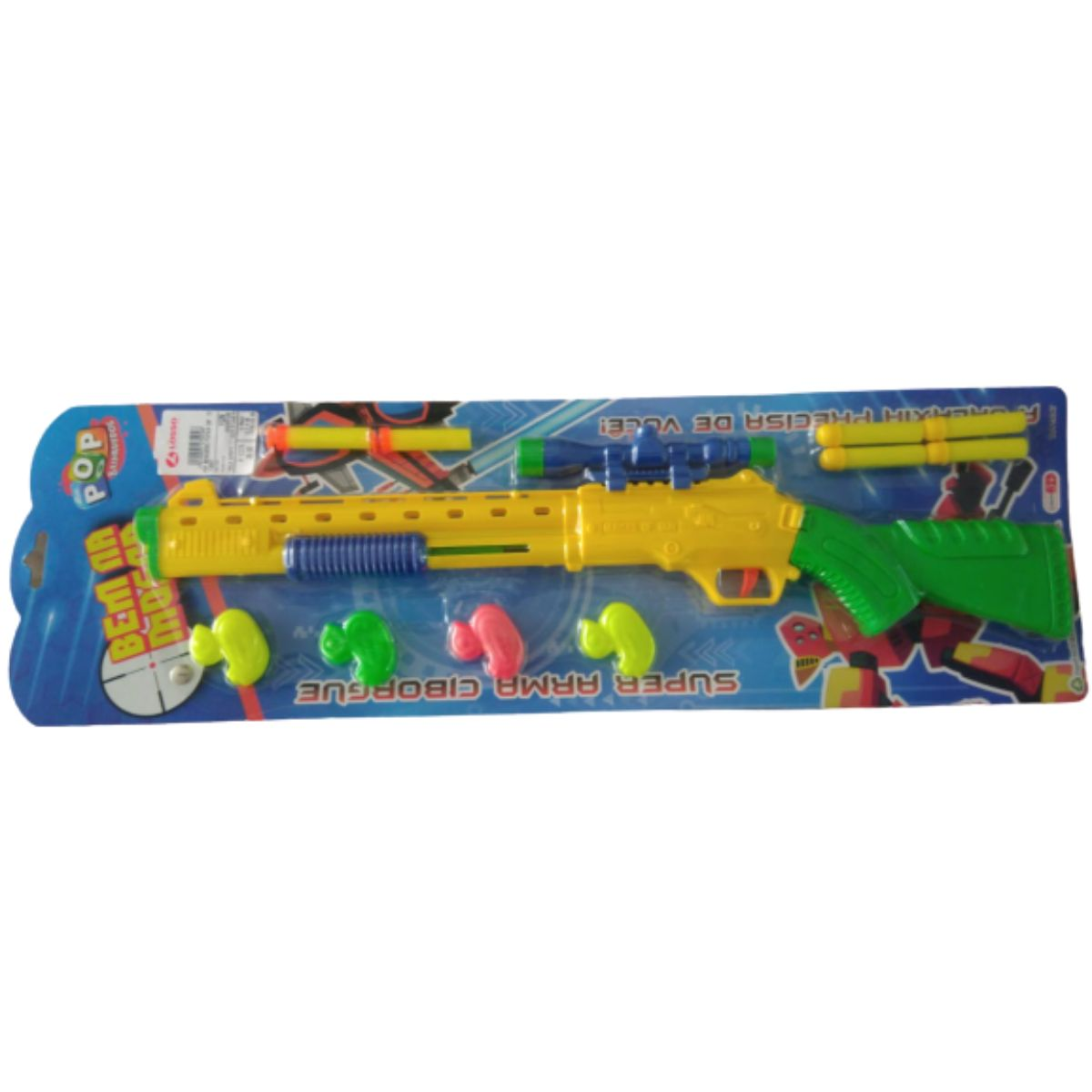 Kit 2 Armas de Brinquedo Pop Brinquedos