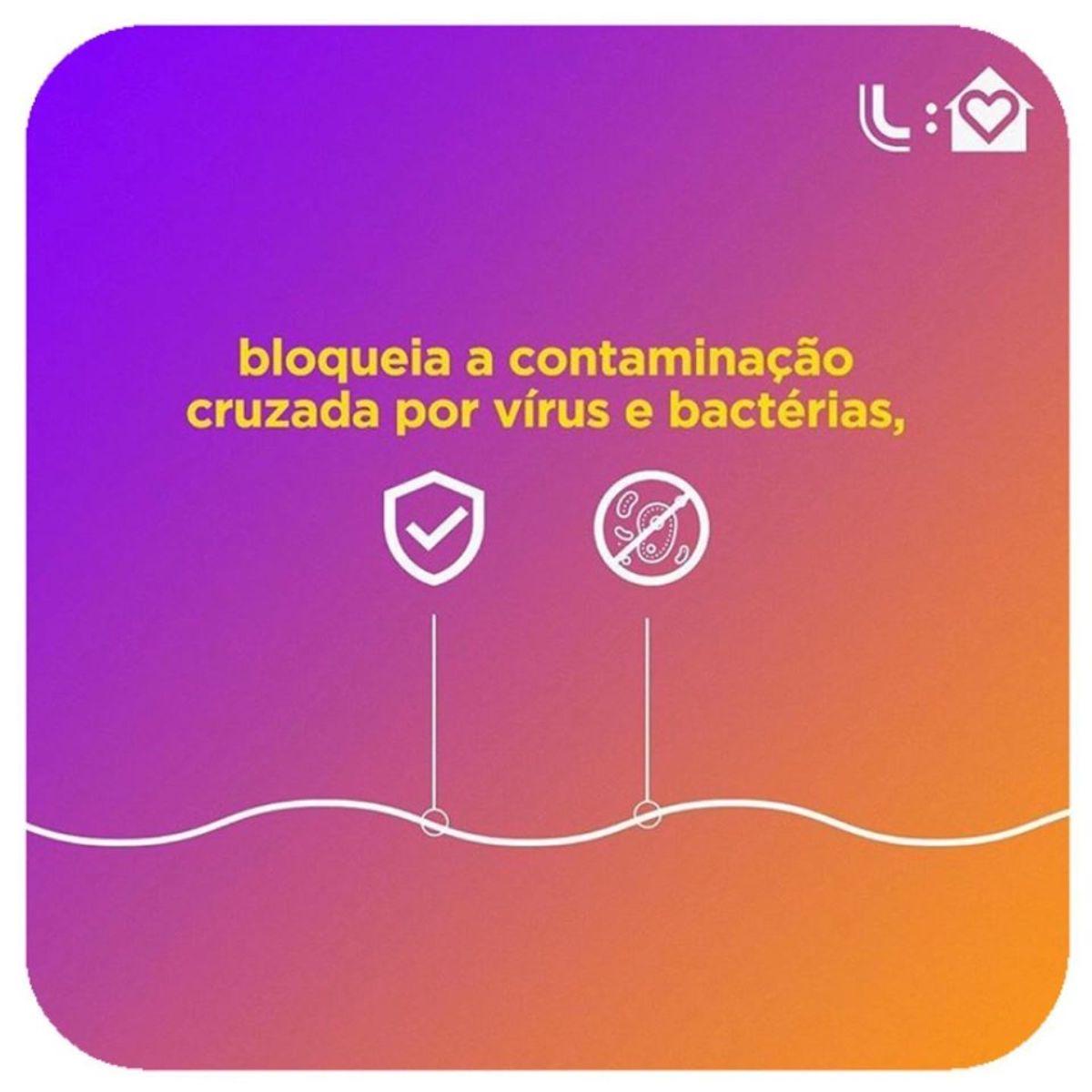 "KIT  C/2 MÁSCARAS DE PROTEÇÃO FIT TECNOLOGIA ""Amni Vírus-Bac OFF CONTRA VÍRUS  COR PRETO-  LUPO"