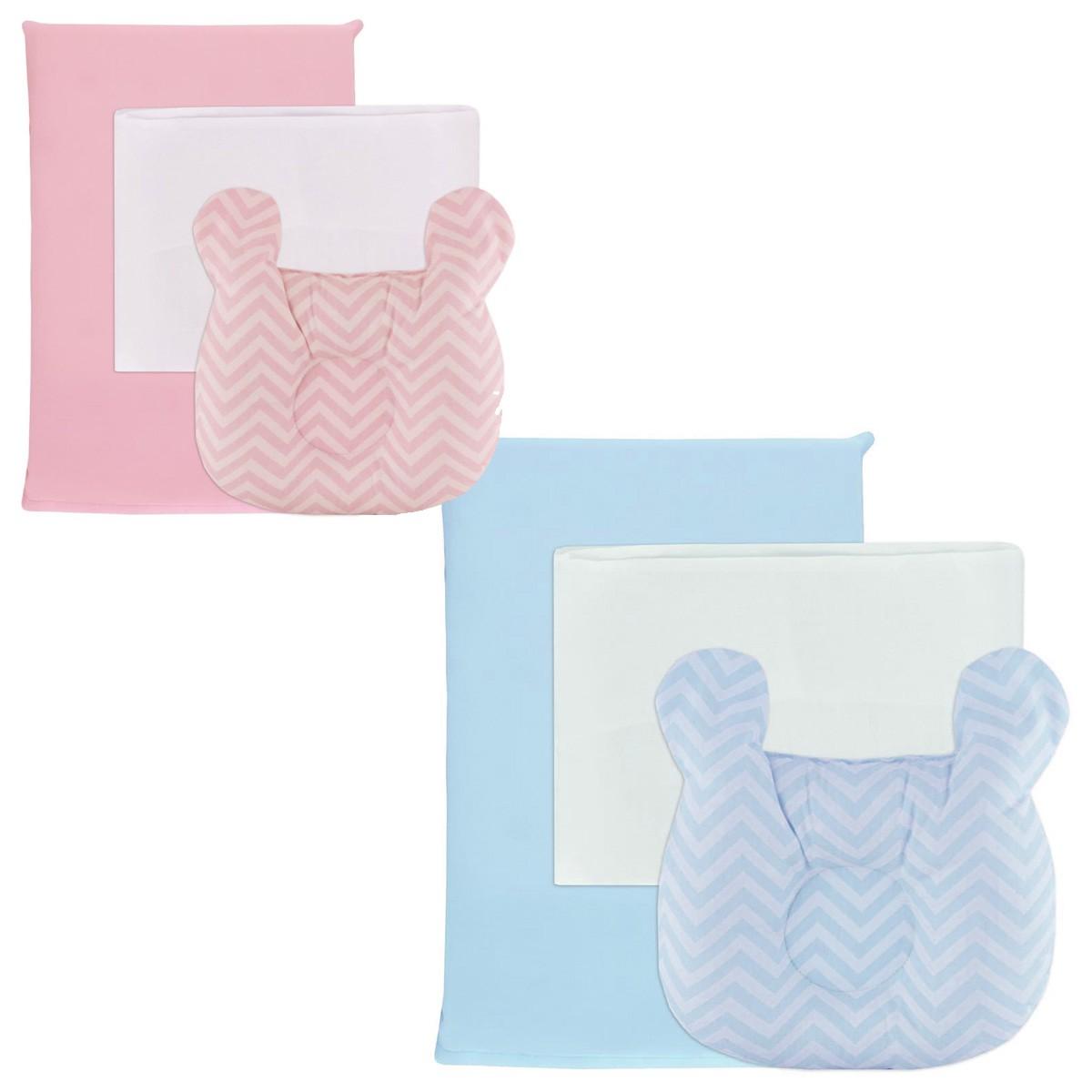 Kit Travesseiro bebê 3 peças NaraBaby Listrado