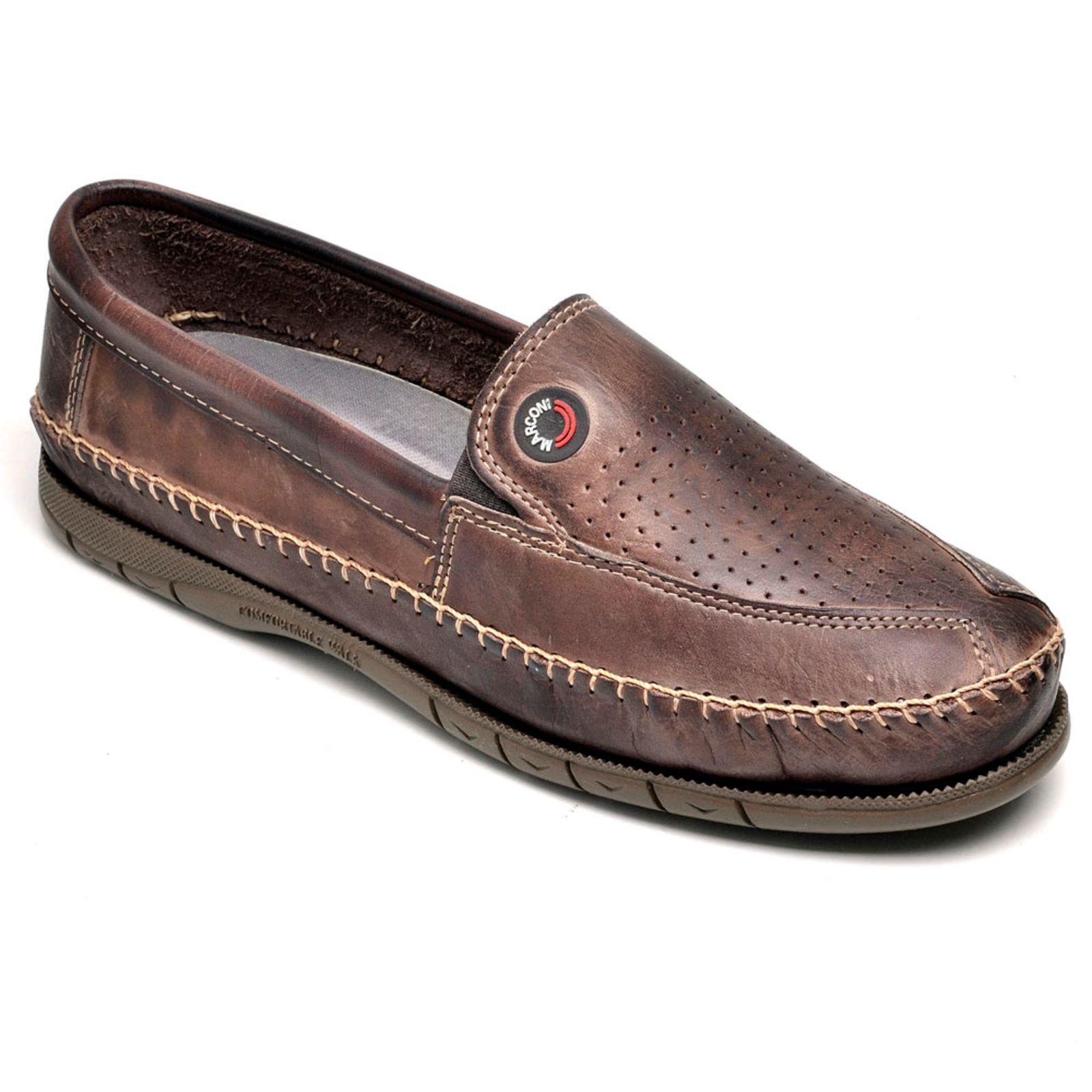Sapato Mocassim em Couro Legítimo Masculino Marconi Moderno Adulto