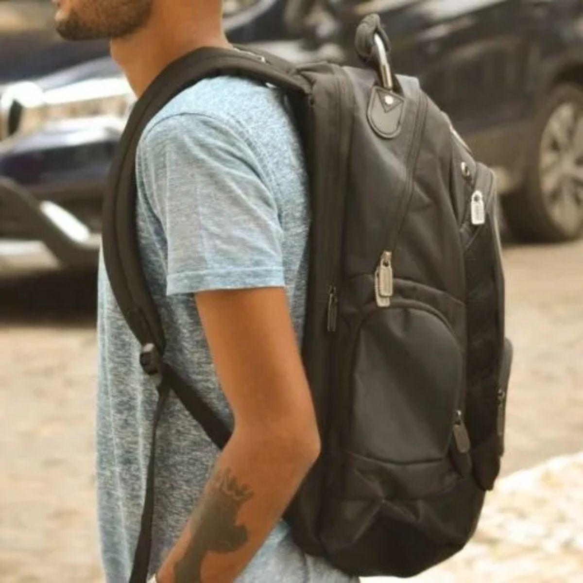 Mochila de Costas Spartan Para Notebook Com Bolsos Adulto