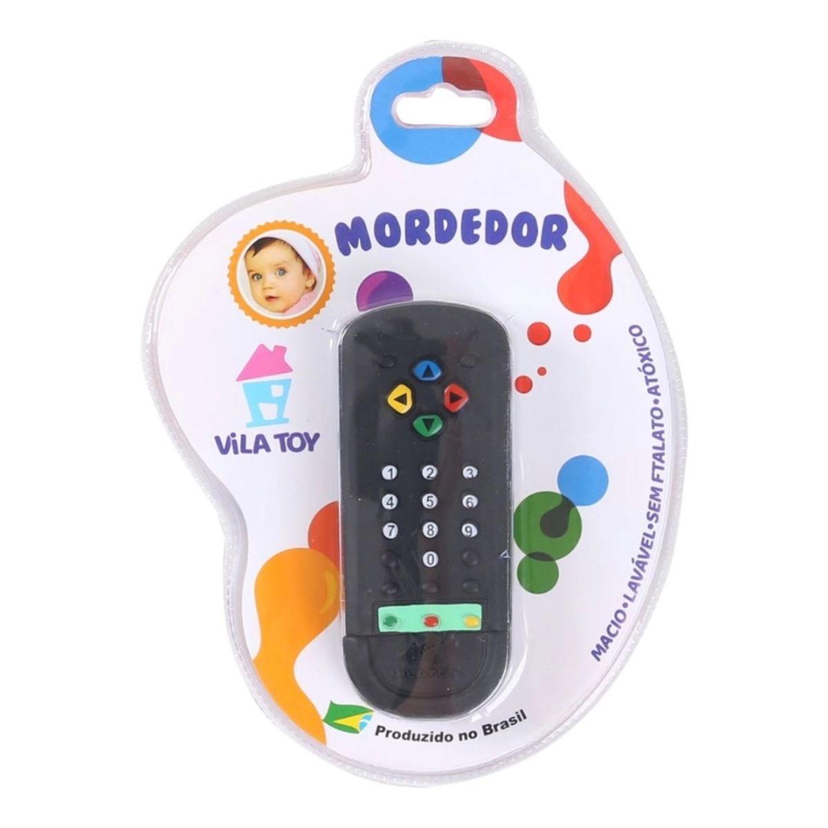 Mordedor de Controle Vila Toys Preto macio para Bebê
