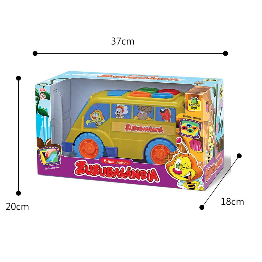 Onibus Didatico Zuzubalandia Samba Toys Brinquedo Infantil
