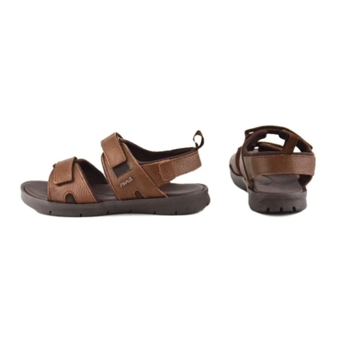 Sandália Papete Itapuã Com Velcro Cacau