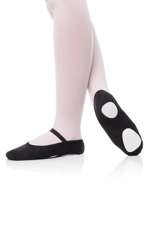 Sapatilha Ballet Preta meia ponta Capezio com sola dividida