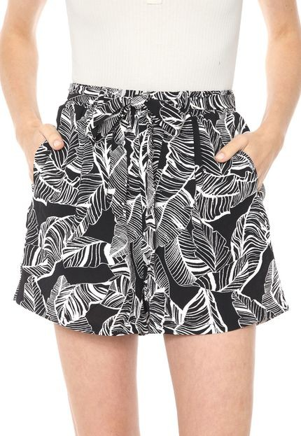 Shorts Facinelli Estampado c/ Elastico Feminino
