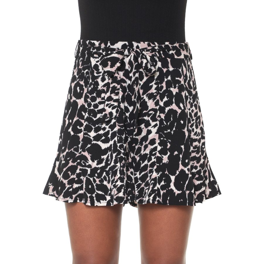 Shorts Facinelli Estampado com Zipper Feminino