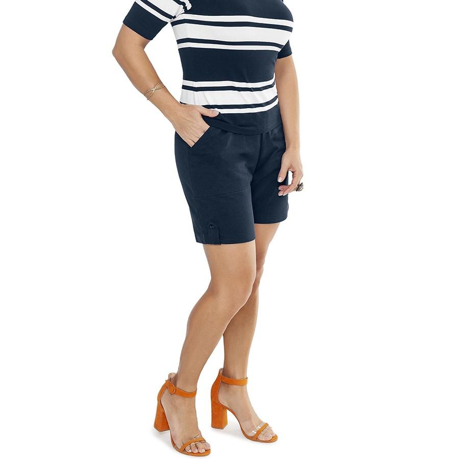 Shorts Feminino Moletom c/ Elástico Juanna