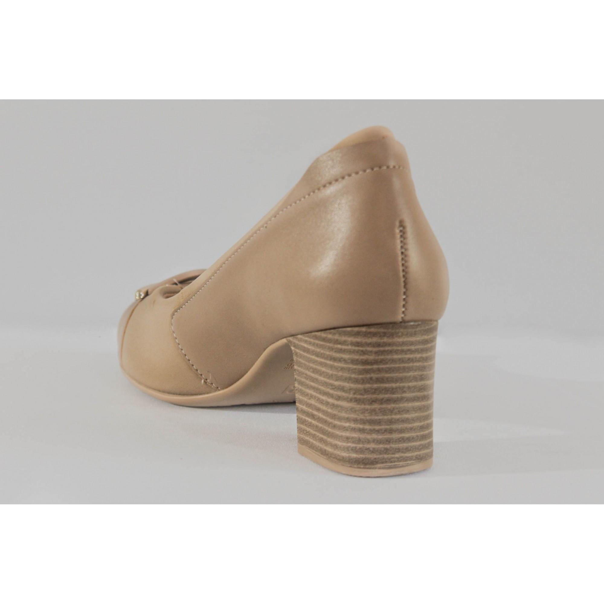 Sapato Confortflex Ref. 1954305 Napa Avela-Lycra Avela-Forro Nude