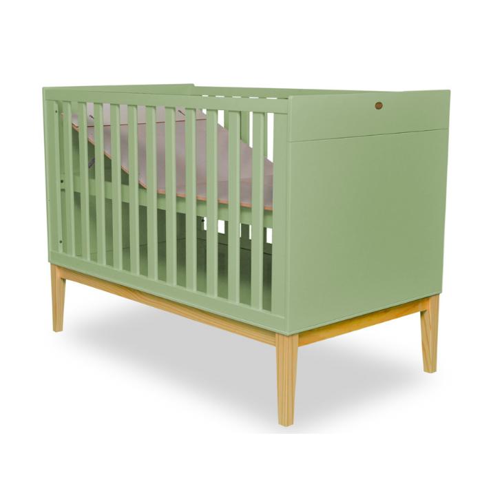 Berço Infantil Amor Perfeito Verde  - Divicar Móveis