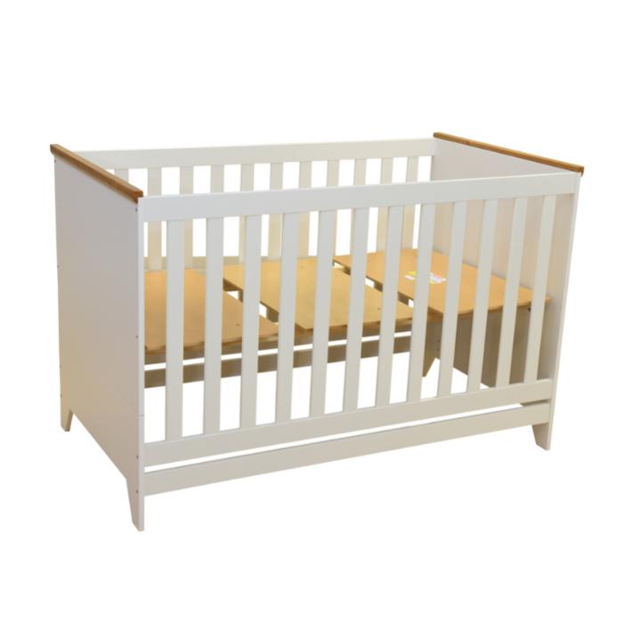 Berço Infantil Ludlow Branco Fosco - Divicar Móveis