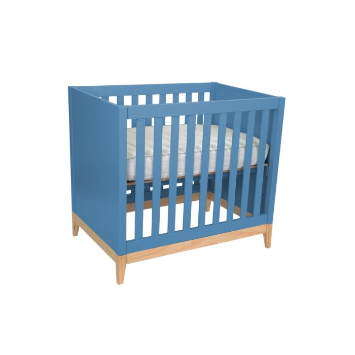 Berço Infantil Médio Amor Perfeito Azul  - Divicar Móveis