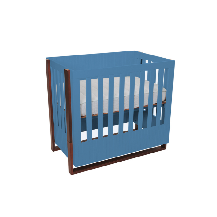 Berço Infantil Médio Dominó Azul/Mel - Divicar Móveis
