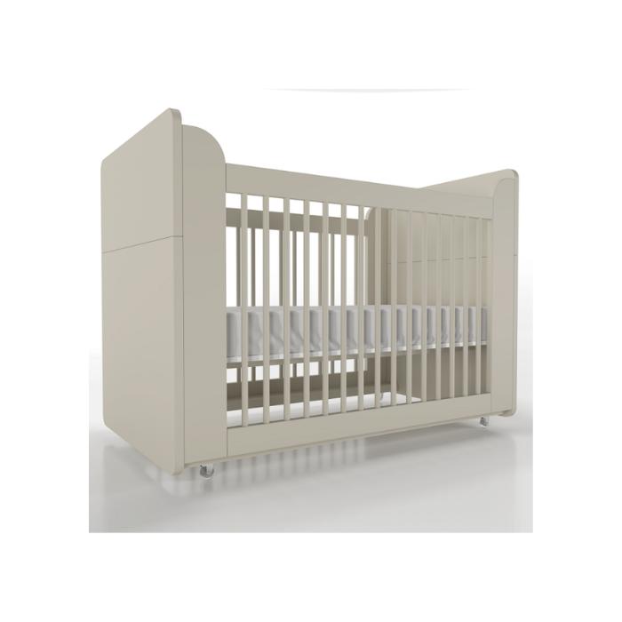 Berço Infantil Optimus Cinza (Completo 3 Versões) - Timber Móveis