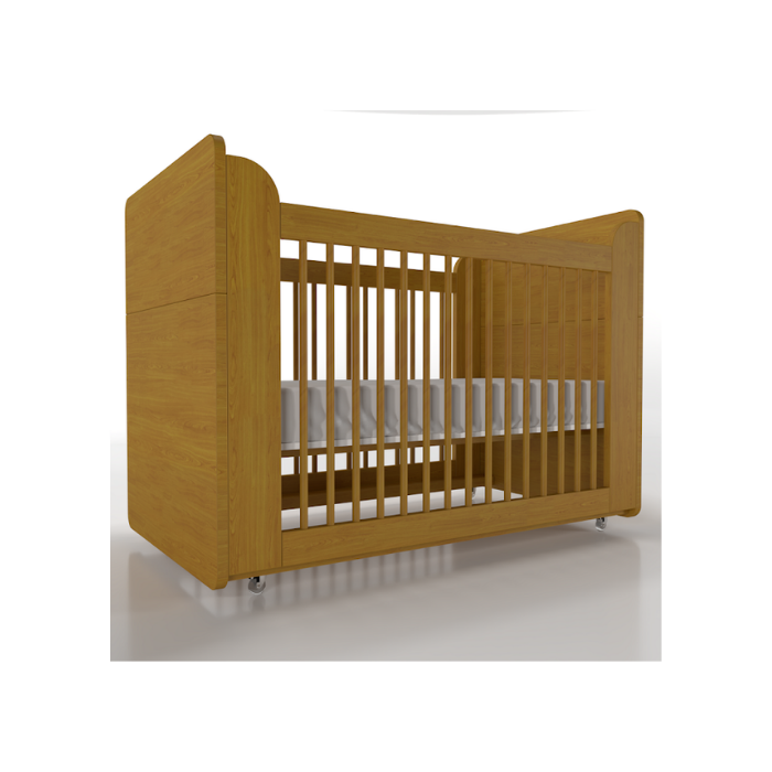 Berço Infantil Optimus Madeira Mel (Completo 3 Versões) - Timber Móveis