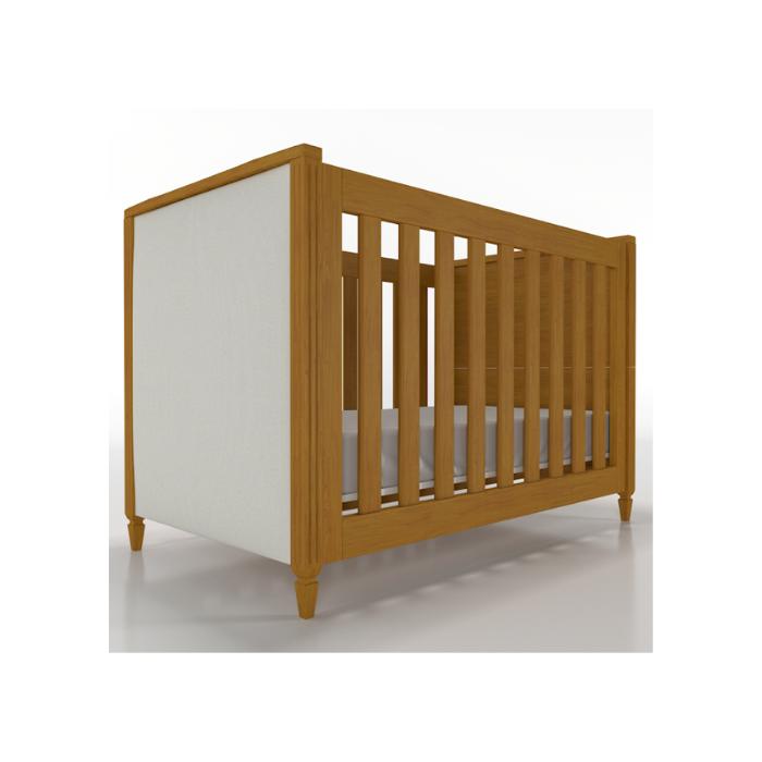 Berço Infantil Tudor Madeira Mel Estofado - Timber Móveis