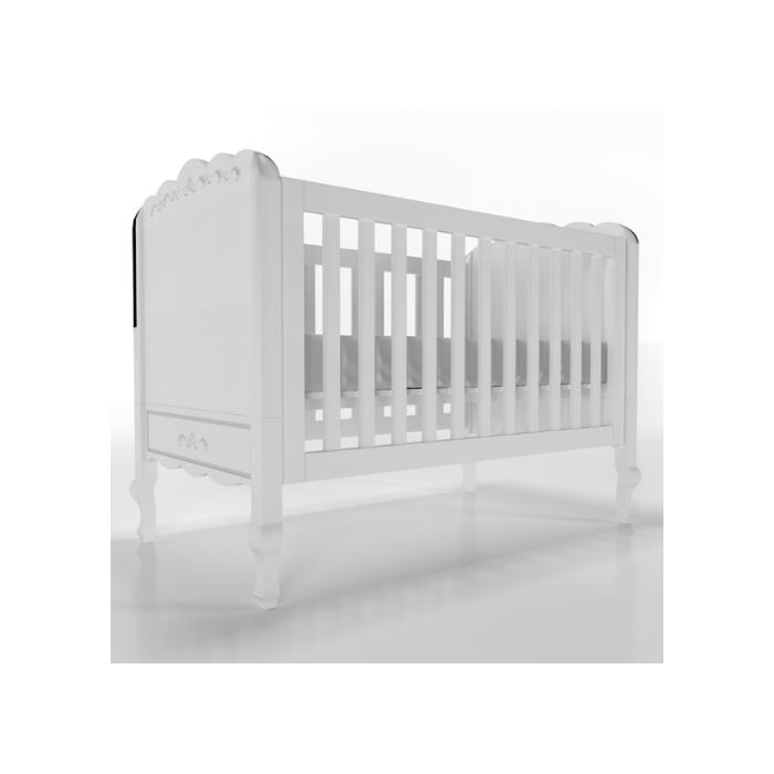 Berço Infantil Versailles Branco - Timber Móveis