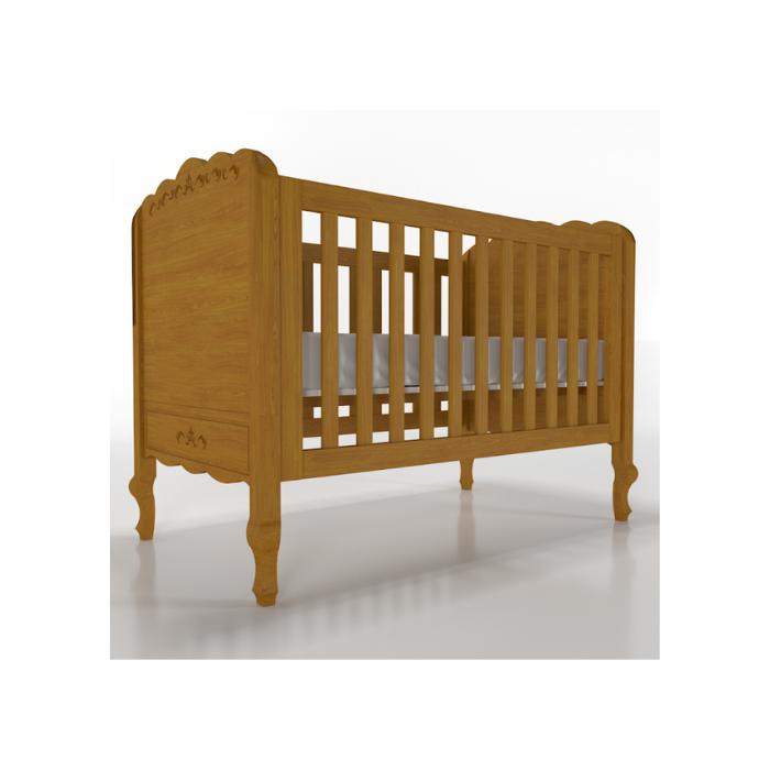 Berço Infantil Versailles Madeira Mel - Timber Móveis