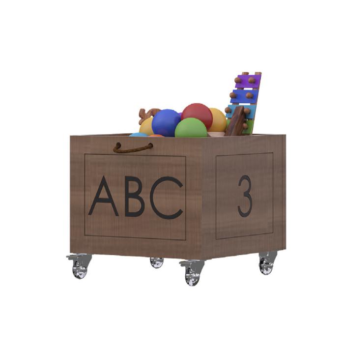 Y Caixa Organizadora Brinquedos Com Alças Madeira Peroba - Divicar Móveis