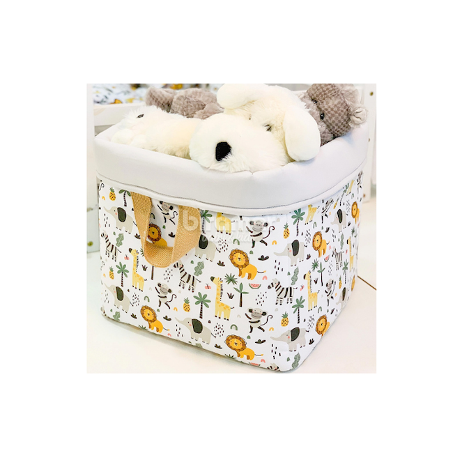 Z - Cesto Organizador Para Brinquedos Estampa Selva - Biramar