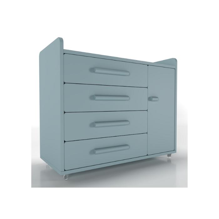 Cômoda Optimus Azul (Rodízio Gel) - Timber Móveis
