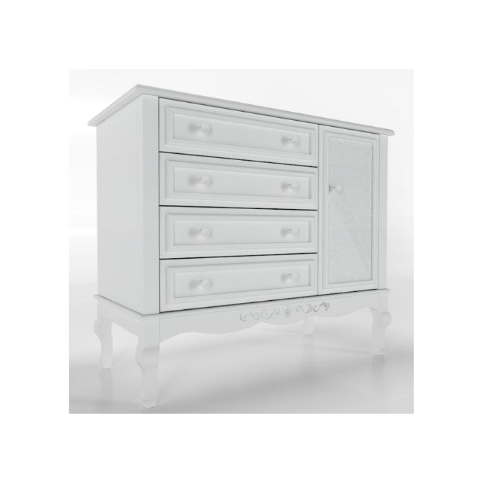 Cômoda Versailles Branca - Timber Móveis