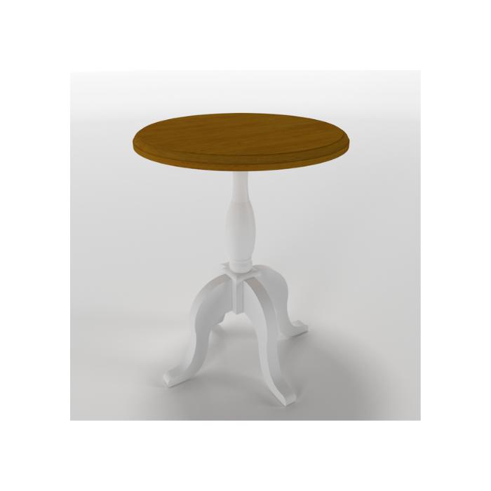 Mesa de Apoio Versailles Branca e Mel (Escolher Tamanho) - Timber Móveis