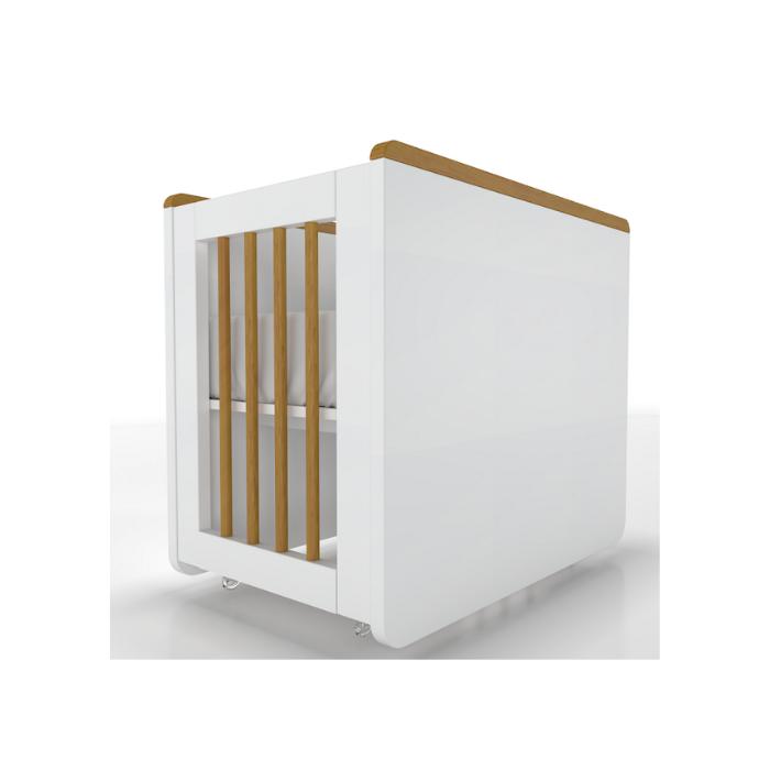Mini Berço Optimus Branco Fosco - Timber Móveis