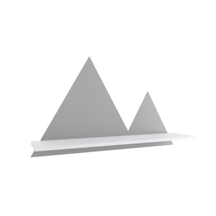 Y Prateleira Montanha Branco Com Cinza - Divicar Móveis