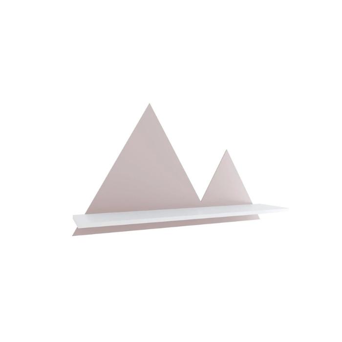 Y Prateleira Montanha Branco Com Rosa - Divicar Móveis