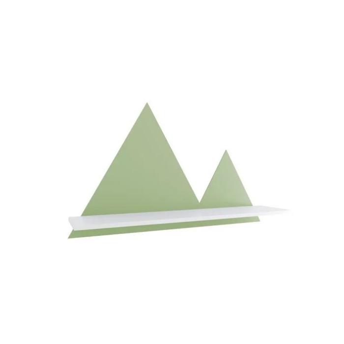 Y Prateleira Montanha Branco Com Verde - Divicar Móveis