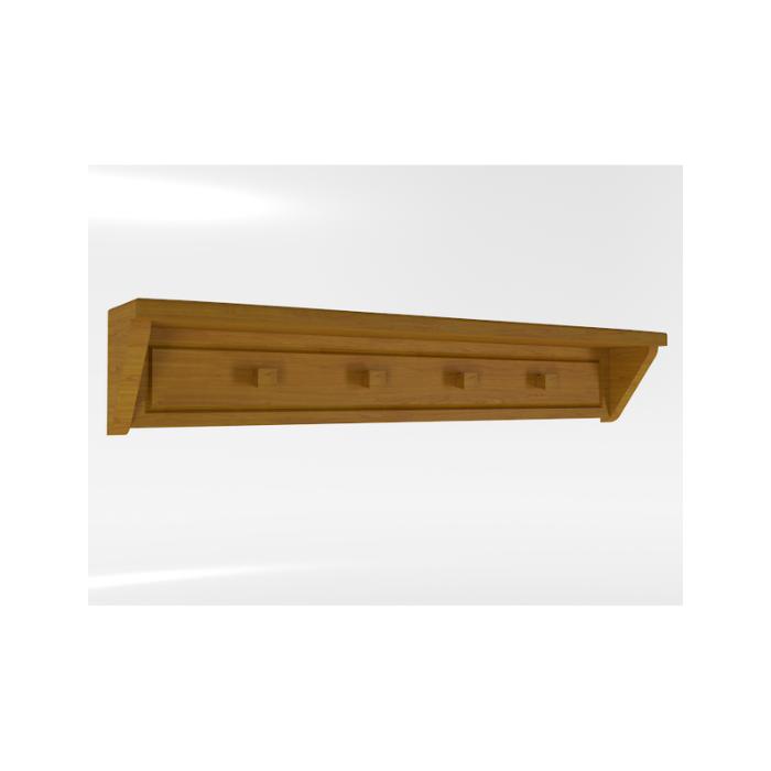 Prateleira Tudor Madeira Mel - Timber Móveis