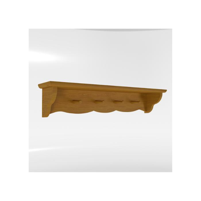 Prateleira Versailles Madeira Mel - Timber Móveis