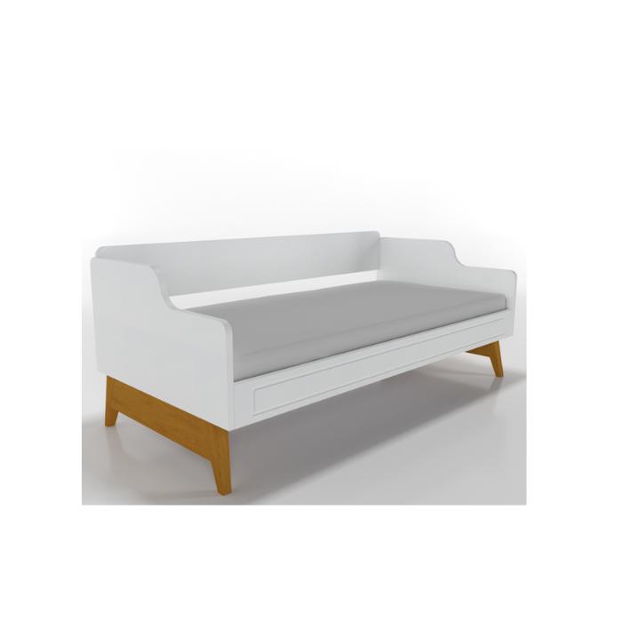 W Cama Sofá Galaxy Branca - Timber Móveis