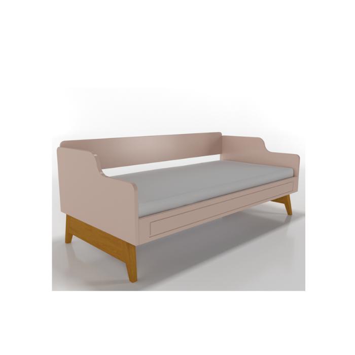 W Cama Sofá Galaxy Rosa - Timber Móveis