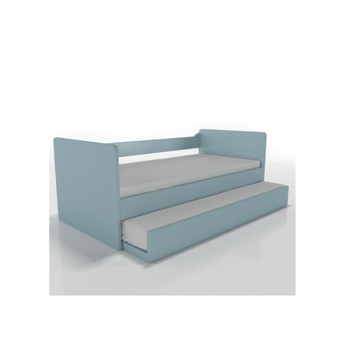 W Cama Sofá Optimus Azul Com Cama Auxiliar - Timber Móveis