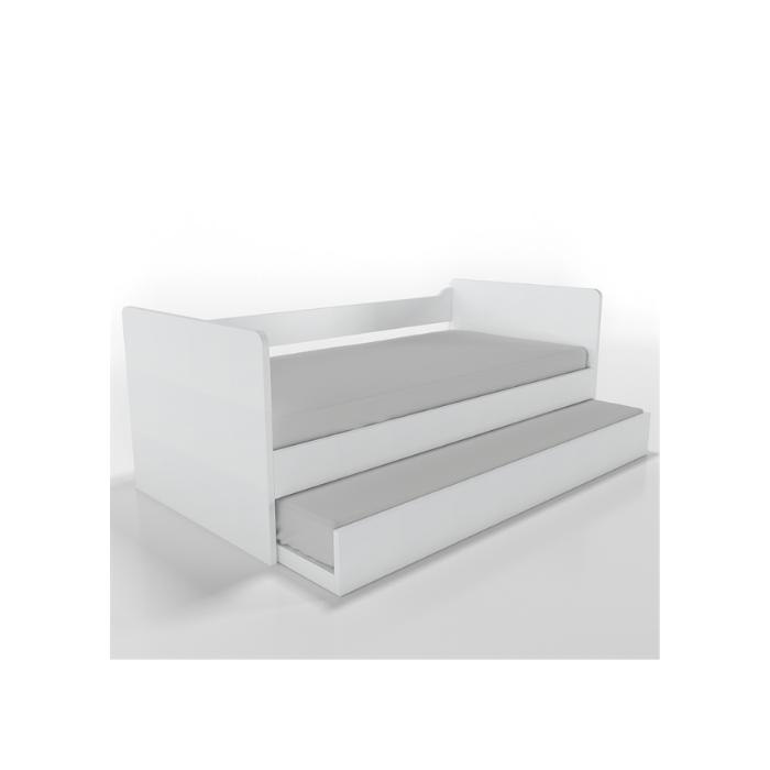 W Cama Sofá Optimus Branca Com Cama Auxiliar - Timber Móveis